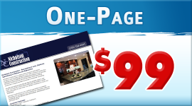 One-page responsive website $99
