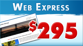 Web Express wordpress website package $295