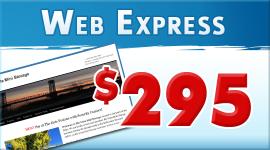 Web Express wordpress website package $295