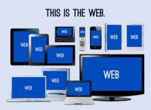 Responsive website design matches screen sizes